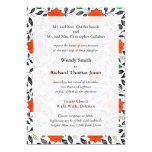 "Red Lilies Parents of the Bride Invitations 5"" X 7"" Invitation Card"