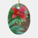 Red Lily Christmas Tree Ornament