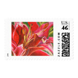 Red Lily Easter Wedding Postage Stamps