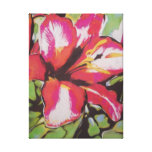 Red Lily flower original abstract art Stretched Canvas Print