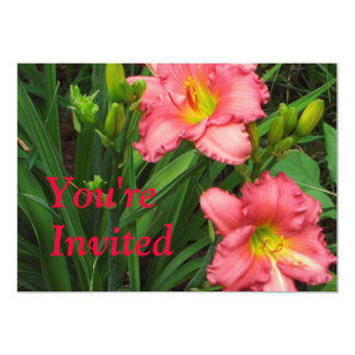 Red Lily Invitation