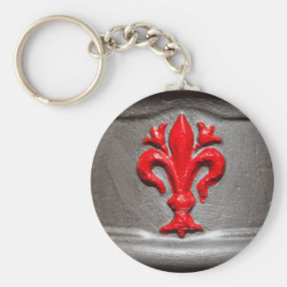 Red Lily of Florence Keychain