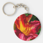 Red Lily Photograph Key Chain