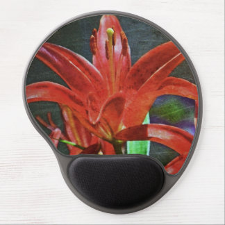 Red Lily-Textured by Shirley Taylor Gel Mouse Pad