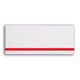 Red Line #10 Envelope