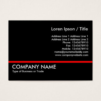 Red Line - Black Business Card