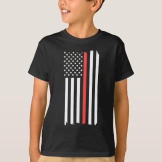 Red Line Flag T-Shirt