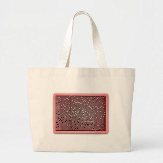 Red Line Maze Canvas Bag