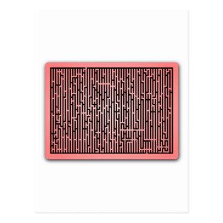 Red Line Maze Postcard