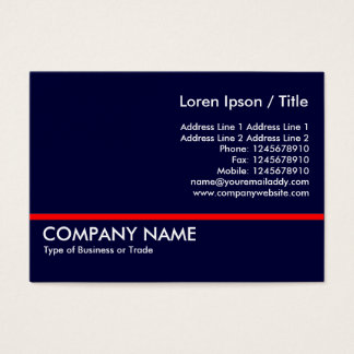 Red Line - Navy Blue Business Card