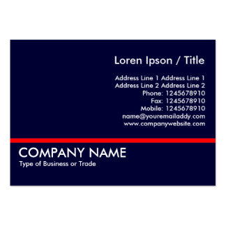 Red Line - Navy Blue Large Business Card