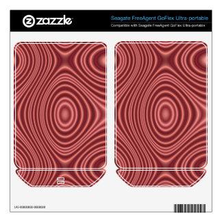 Red Line Pattern FreeAgent GoFlex Skins