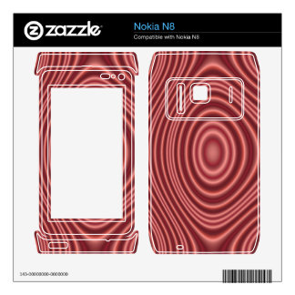 Red Line Pattern Decals For The Nokia N8