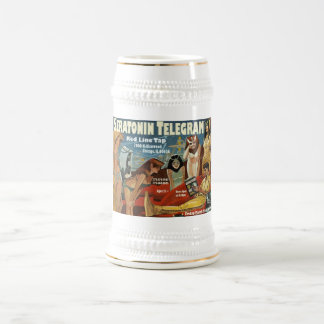 Red Line Tap Poster Stein