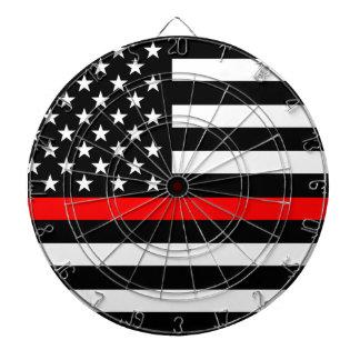 Red Line US Flag Dart Board