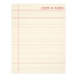 letterheaded paper