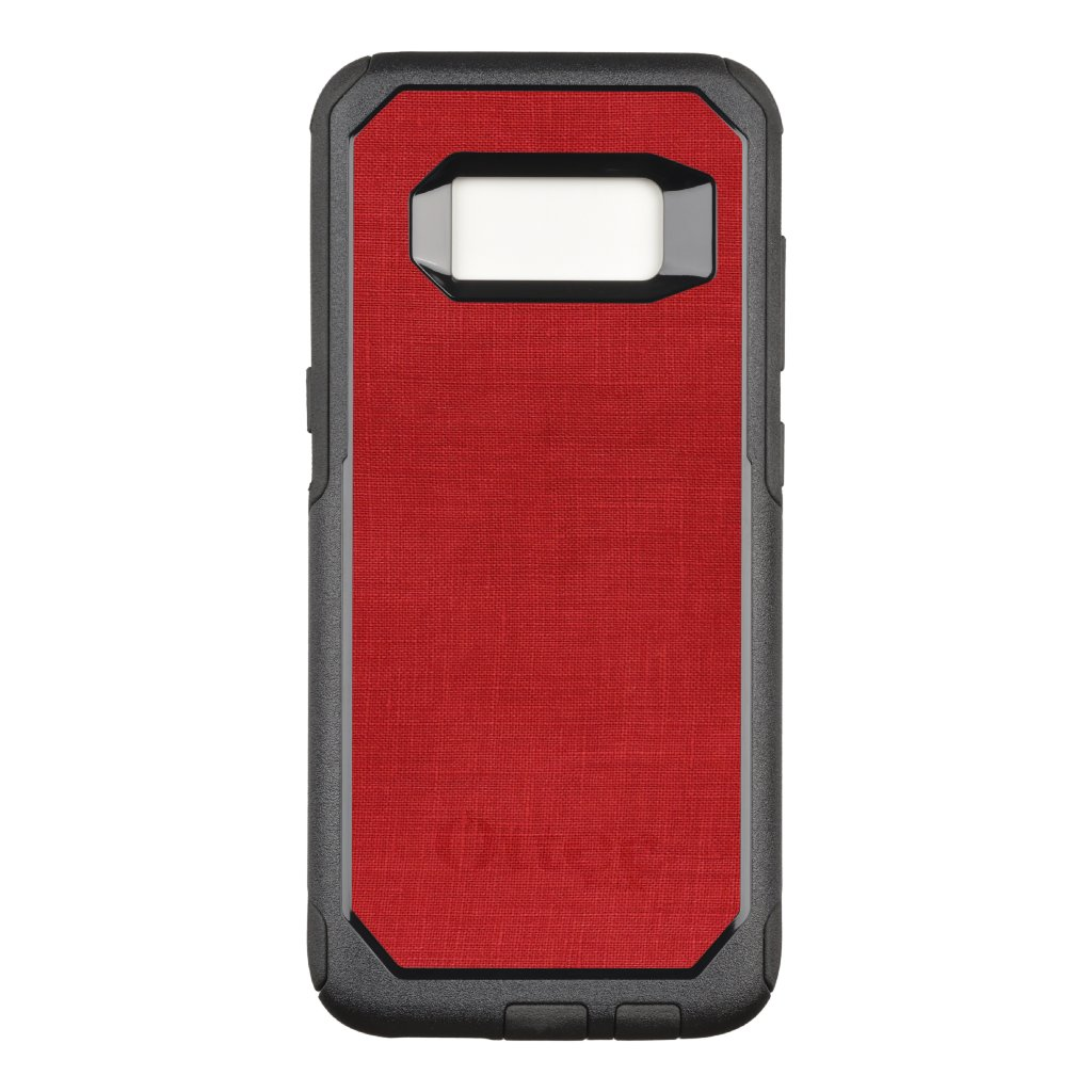Red Linen Close-up Photo Background OtterBox Commuter Samsung Galaxy S8 Case
