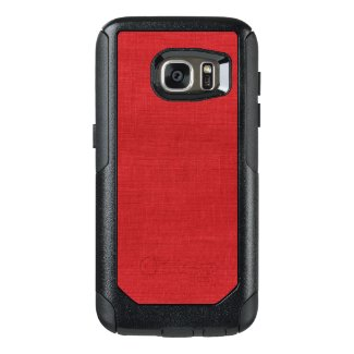Red Linen Close-up Photo Background OtterBox Samsung Galaxy S7 Case