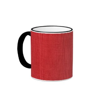 Red Linen Fabric Texture Coffee Mug