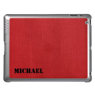 Red Linen Fabric Texture iPad Cover