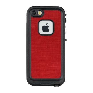 Red Linen Fabric Texture Photo LifeProof FRĒ iPhone SE/5/5s Case