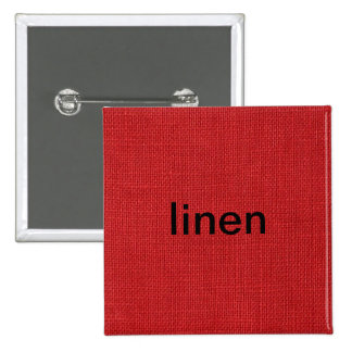 Red Linen Texture Photo 2 Inch Square Button