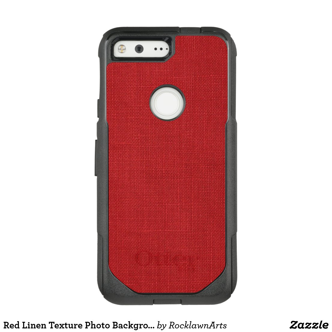 Red Linen Texture Photo Background OtterBox Commuter Google Pixel Case
