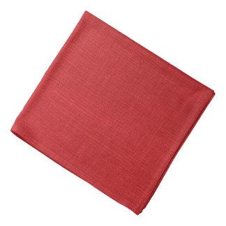 Red Linen Texture Photo Bandana