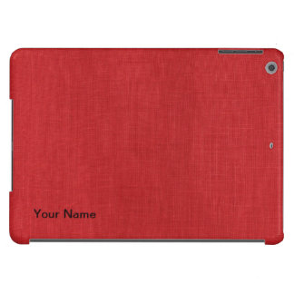 Red Linen Texture Photo Case For iPad Air