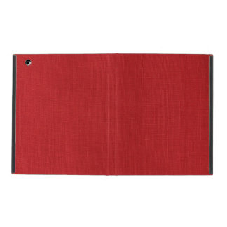 Red Linen Texture Photo iPad Folio Case