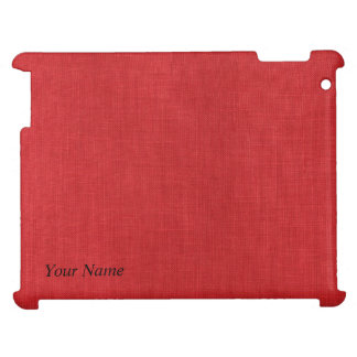 Red Linen Texture Photo iPad Covers