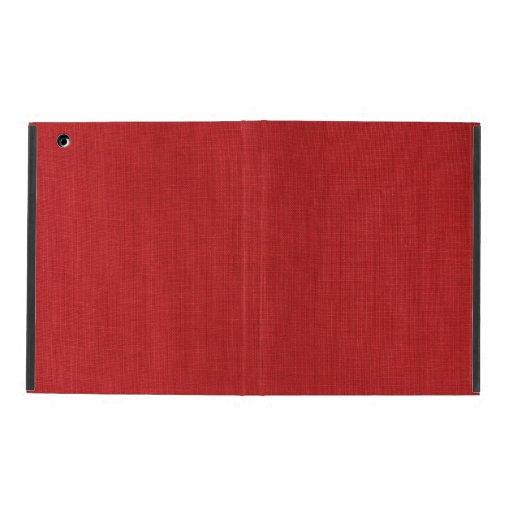 Red Linen Texture Photo iPad Folio Case