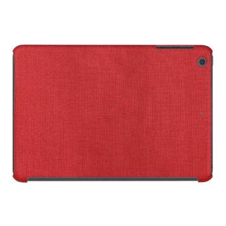 Red Linen Texture Photo iPad Mini Cover