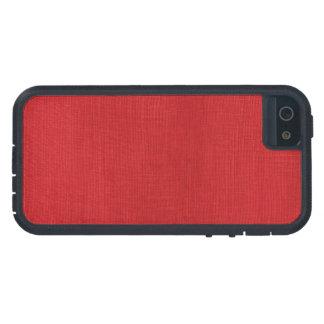 Red Linen Texture Photo iPhone SE/5/5s Case