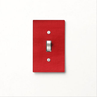Red Linen Texture Photo Light Switch Cover