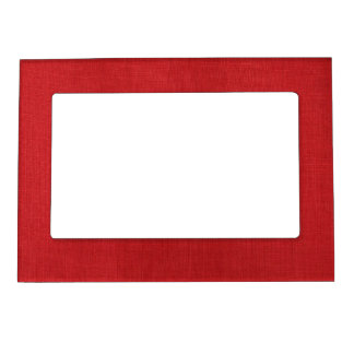 Red Linen Texture Photo Magnetic Photo Frame