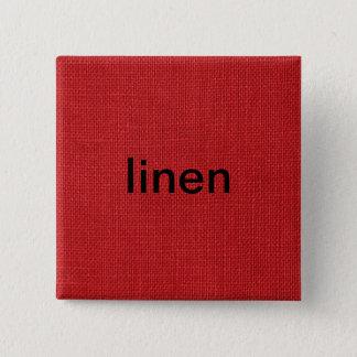 Red Linen Texture Photo Pinback Button