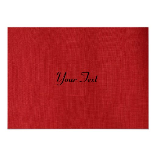 Red Linen Texture Photo Poster