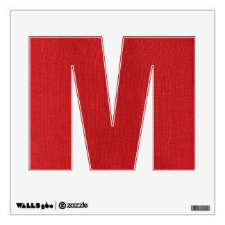 Red Linen Texture Photo Wall Sticker