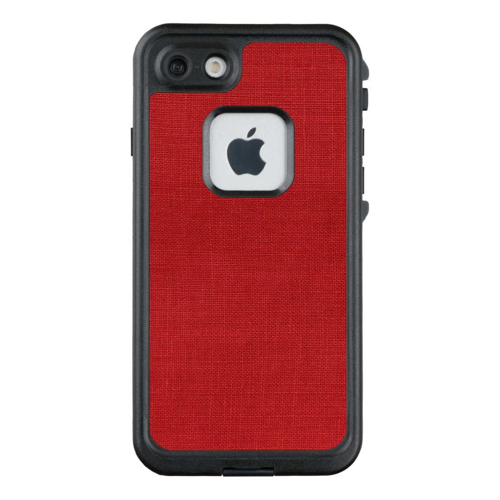 Red Linen Threads Texture Photo LifeProof® FRĒ® iPhone 7 Case