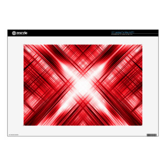 """Red lines cross 15"""" laptop decal"""