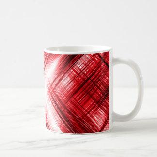Red lines cross coffee mug