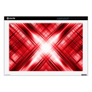Red lines cross decal for laptop
