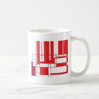 Red lines Play Classic White Coffee Mug