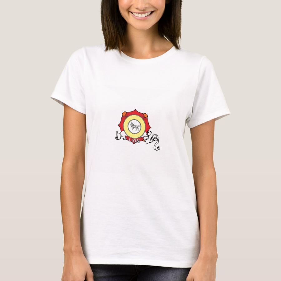 red lion badge T-Shirt - Best Selling Long-Sleeve Street Fashion Shirt Designs
