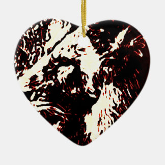 Red Lion Design Ceramic Ornament