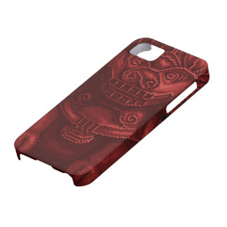 Red Lion Dog Pixel Art iPhone 5 Cases