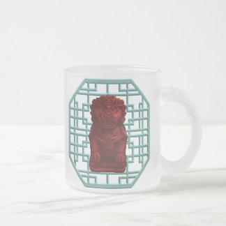 Red Lion Dog Pixel Art Mugs
