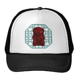 Red Lion Dog Pixel Art Trucker Hat