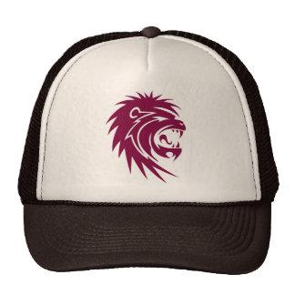 Red lion head trucker hat